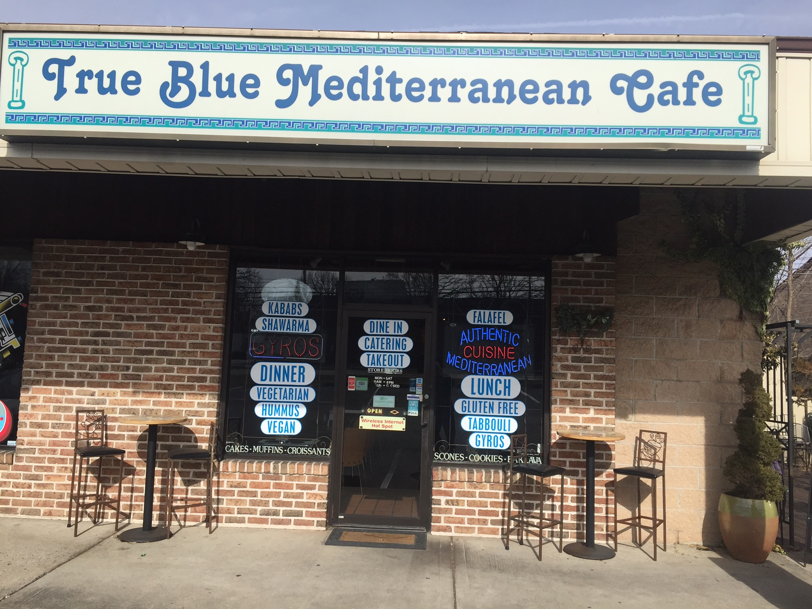 true blue mediterranean cafe in emmaus | zavecz window cleaning
